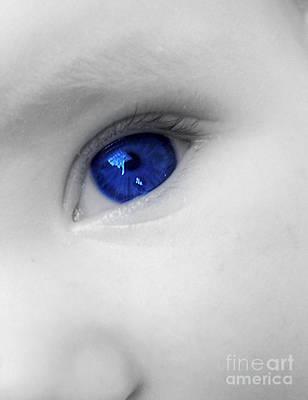 Baby Blue Art Print by Nina Ficur Feenan