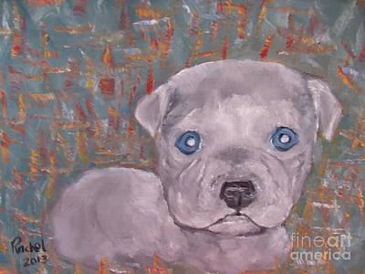 Painting - Baby Blue Pit by Rachel Carmichael