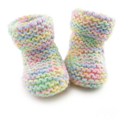 Booty Photograph - Baby Booties In Multi Coloured Yard by Colin and Linda McKie