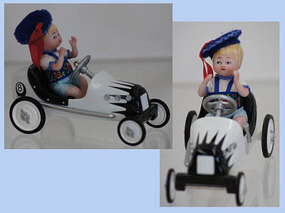 Ceramic Art - Baby Boy In Hallmark Car by Shirley Heyn