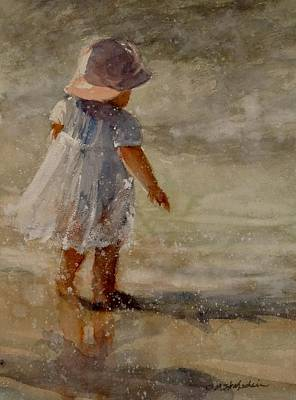 Painting - Baby By The Sea by Sandra Strohschein