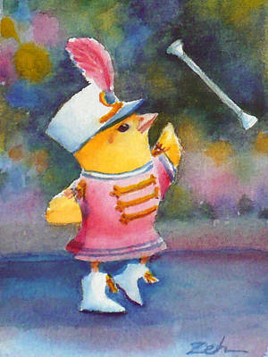 Painting - Baby Chick Drum Majorette by Janet  Zeh