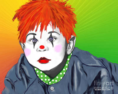 Painting - Baby Clown by Methune Hively