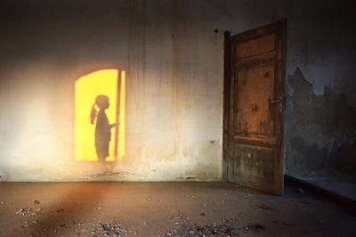 Baby Do Not Open That Door Art Print by Alfio Finocchiaro