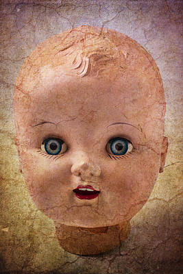 Doll Photograph - Baby Doll Face by Garry Gay
