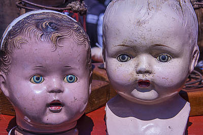 Doll Photograph - Baby Doll Heads by Garry Gay