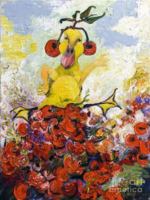 Painting - Baby Duck King Of Cherry Hill by Ginette Callaway