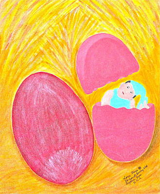 Baby Egg Art Print by Lorna Maza