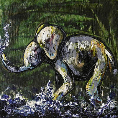 Baby Elephant Art Print by Lovejoy Creations