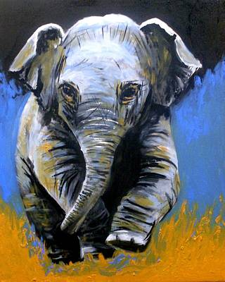 Painting - Baby Elephant Walk by Anne Gardner