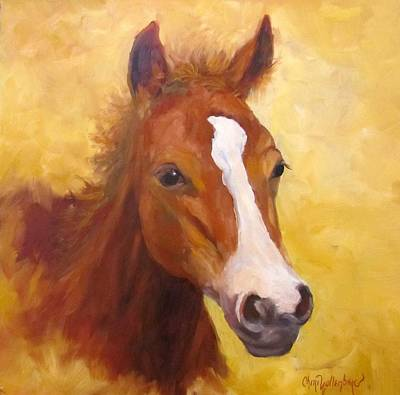 Western Chic Painting - Baby Face by Cheri Wollenberg