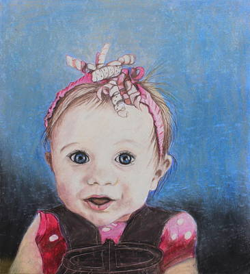 Soft Head Painting - Baby Girl by Jeanne Fischer