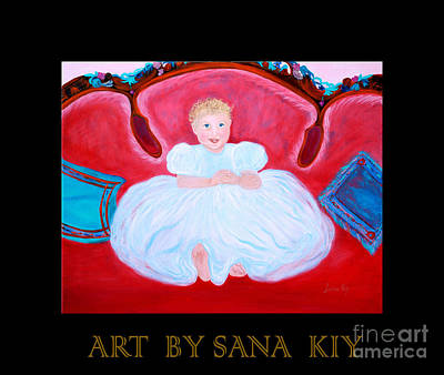 Painting - Baby Girl.inspirations Collection. by Oksana Semenchenko