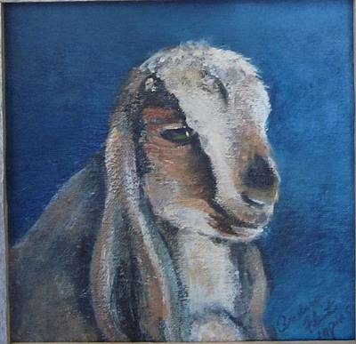 Sheep Painting - Baby Goat Erika by Andrea Flint Lapins