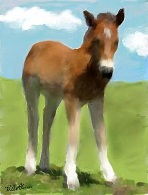 Art Print featuring the painting Baby Horse by Mary M Collins