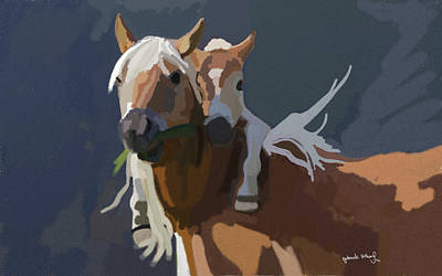 Baby Horse Art Print by Nydia Williams