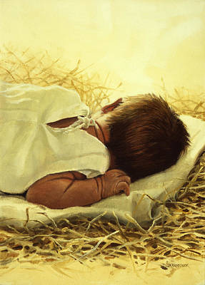 Child Jesus Painting - The Gift Of God by Graham Braddock