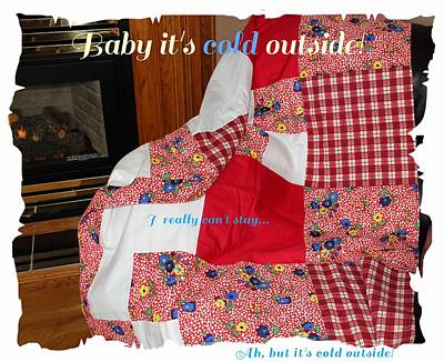 Quilts For Sale Photograph - Baby It's Cold Outside Quilt  by Barbara Griffin