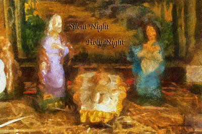 Nativity Digital Art - Baby Jesus Silent Night Photo Art by Thomas Woolworth