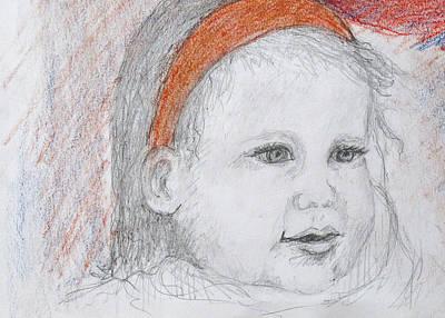 Drawing - Baby Josephine by Barbara Anna Knauf