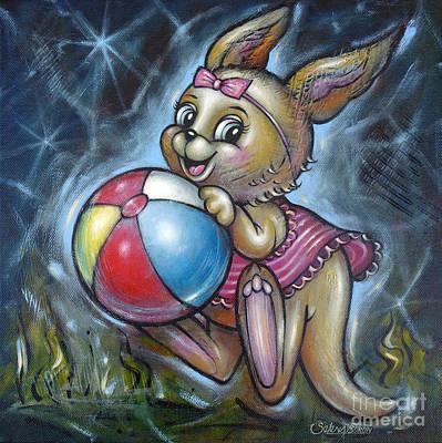Painting - Baby Kangaroo 150911 by Selena Boron