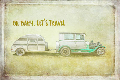 Trailer Painting - Baby Let's Travel by Ramona Murdock