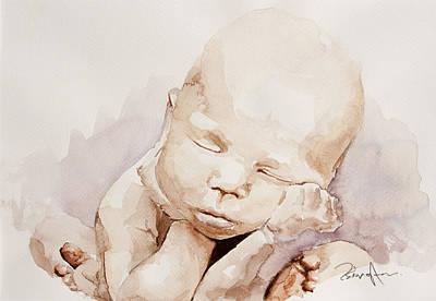 Portraits Painting - Baby by Michael Tsinoglou