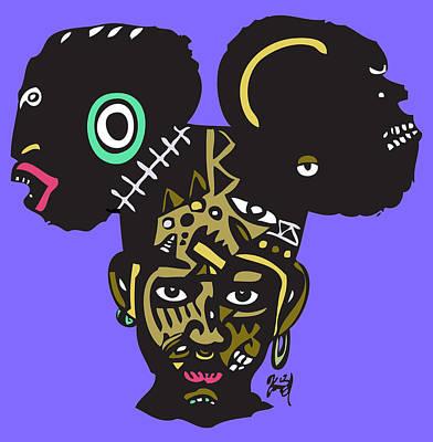 Popstract Digital Art - Baby Of Rage by Kamoni Khem