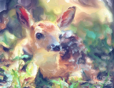 Digital Art - Baby Of The Wild by Ruby Cross