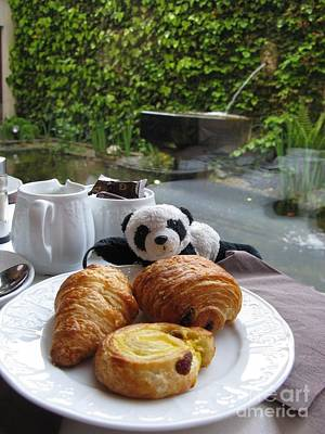 Photograph - Baby Panda And Croissant Rolls by Ausra Huntington nee Paulauskaite