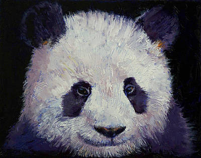 Realist Painting - Baby Panda by Michael Creese