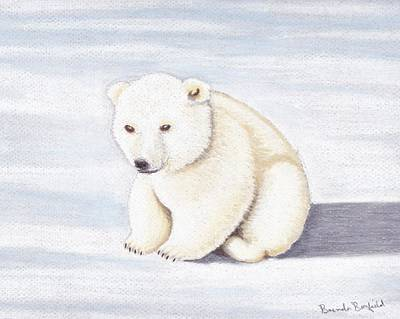 Pastel - Baby Polar Bear by Brenda Bonfield