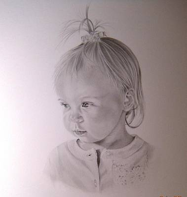 Drawing - Baby Portrait by Lori Ippolito