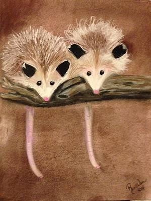 Baby Possums Art Print