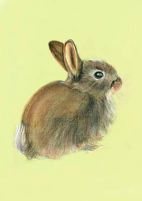 Jessica Rabbit Painting - Baby Rabbit In Pastels by Alison Langridge