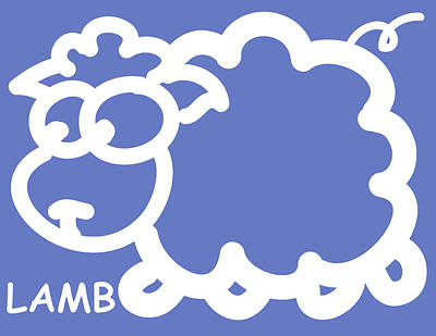 Baby Room Art - Lamb Art Print by Nursery Art