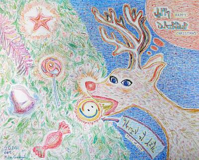 Baby Rudolph Original by Kim Godgul