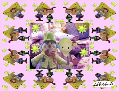 Little Girl Mixed Media - Baby Sandras Friends by Cibeles Gonzalez