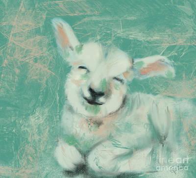 Painting - Baby Sheep by Go Van Kampen
