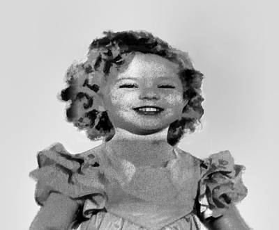 Baby Shirley Temple Sketch Art Print by Linda Phelps