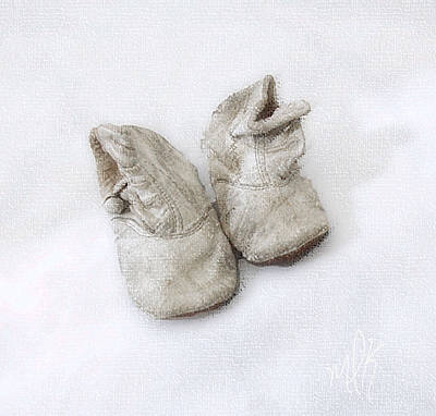 Photograph - Baby Shoes by Louise Kumpf