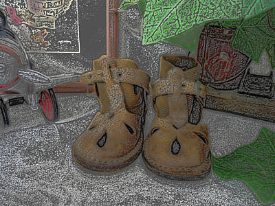 Staff Picks Judy Bernier Rights Managed Images - Baby Shoes Royalty-Free Image by Lovina Wright