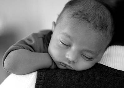 Children Photograph - Baby Sleeps by Lisa Phillips