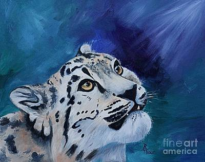 Painting - Baby Snow Leopard by Brenda Thour