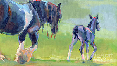 Gypsy Vanner Horse Painting - Baby Steps by Kimberly Santini