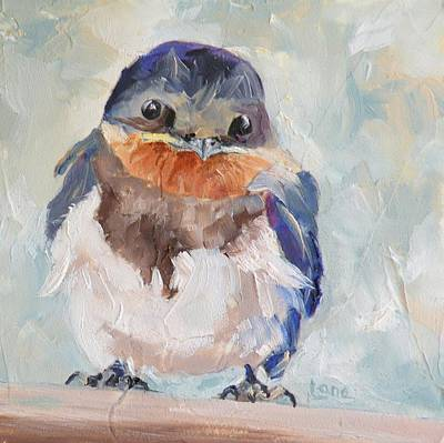 Baby Swallow Original by Saundra Lane Galloway