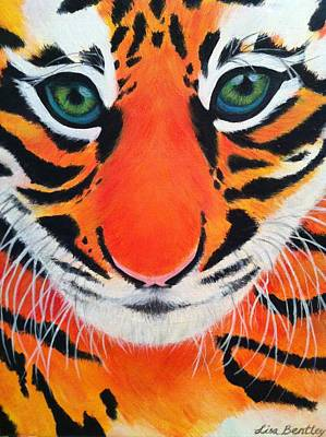 Painting - Baby Tiger by Lisa Bentley