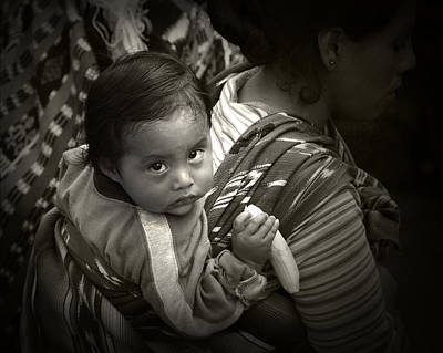 Guatemala Photograph - Baby With A Banana by Tom Bell