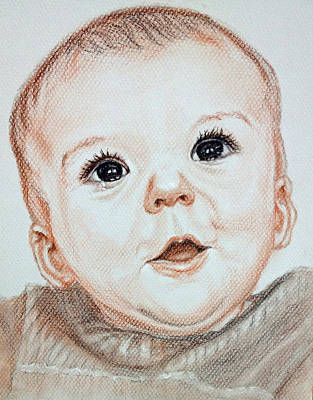 Crying Drawing - Baby With Crying And Smilling At The Same Time by Sun Sohovich
