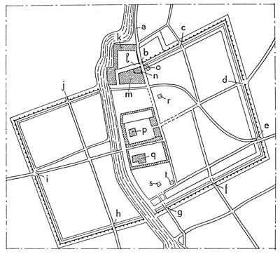 Babylonia: Plan Of Babylon Art Print by Granger